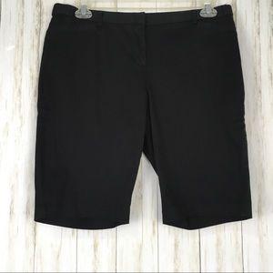 Laundry By Shelli Segal Black Bermuda Shorts
